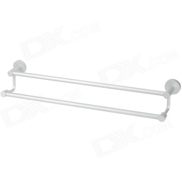 Tower Bath Towel Dual-Bar Aluminum Alloy Hanger Rack - Silver Gresham New products