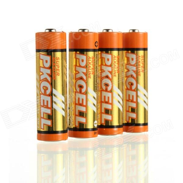 PKCELL LR6 2100mAh 1.5V Alkaline AA Battery - Orange (4PCS) pkcell lr6 2100mah 1 5v alkaline aa battery orange 4pcs