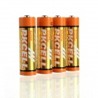 PKCELL LR6 2100mAh 1.5V Alkaline AA Battery - Orange (4PCS)