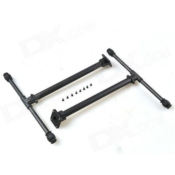 FPV T-shape Carbon Fiber Landing Gear Skid for RC Multicopter for X650 S550 + More - Black