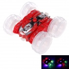 40MHz 1:24 Radio Control Double-sided Stunt Car w/ Music + LED Light - Red