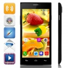 "JIAKE X909 MTK6572 Dual-Core Android 4.2.2 WCDMA Bar Phone w/ 5.0"" IPS, Wi-Fi, FM, GPS - Black"