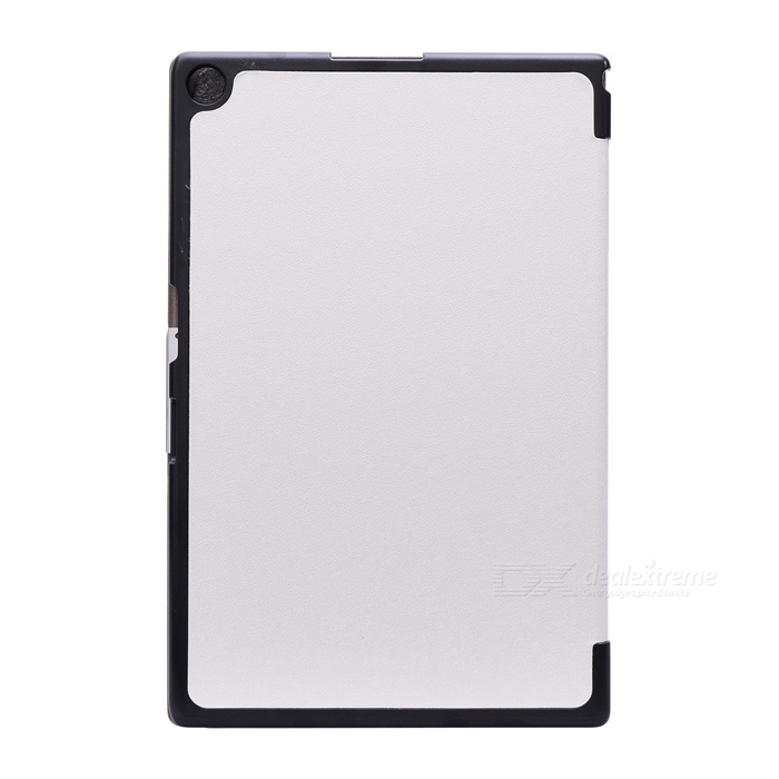 Protective PU Leather Case Cover w/ Magnetic Closure for Sony Xperia Tablet Z2 - White чехол книжка lazarr protective case для sony xperia z2 d6503 из экокожи black