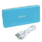 iFans 15000mAh 1A + 2A Dual USB Output Portable Power Bank - Blue