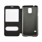 Angibabe Protective PU Leather Case Cover for Samsung Galaxy S5 - Black