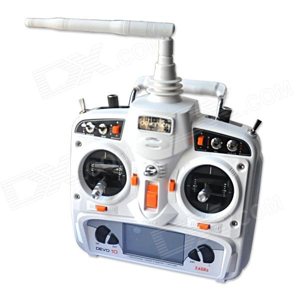 Walkera DEVO 10 2.4Ghz 10-CH 2KM Range Remote Control w/ 2.9 LCD Display for Walkera R/C AircraftOther Accessories for R/C Toys<br>Form  ColorWhiteBrandWalkeraModelDEVO 10MaterialPlasticQuantity1 DX.PCM.Model.AttributeModel.UnitCompatible ModelWalkera R/C aircraftsPacking List1 x Remote control 1 x USB data cable (170cm) 1 x Audio cable (170cm) 1 x CD (includes English / Chinese user manual)<br>