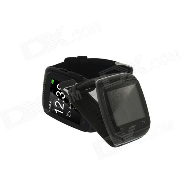 "S12 1.54"" Screen Smart Bluetooth V3.0 Watch w/ FM Radio - Black"