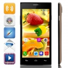 "JIAKE X909 MTK6572 Dual-Core Android 4.2.2 WCDMA Bar Phone w/ 5.0"" IPS, Wi-Fi, FM, GPS - Gold+ Black"