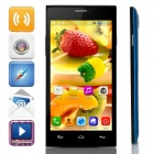 "JIAKE X909 MTK6572 Dual-Core Android 4.2.2 WCDMA Bar Phone w/ 5.0"" IPS, Wi-Fi, FM, GPS - Blue +Black"