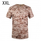 ESDY SM-1 Men's Quick-drying Leisure Cotton + Nylon O-neck Short Sleeve T-shirt - Camouflage (XXL)