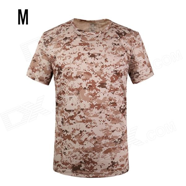 ESDY SM-4 Men's Quick-drying Leisure Cotton + Nylon O-neck Short Sleeve T-shirt - Camouflage (M)