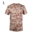 ESDY SM-3 Men's Quick-drying Leisure Cotton + Nylon O-neck Short Sleeve T-shirt - Camouflage (L)