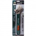 "Pro'sKit HW-012 12"" Adjustable Steel Wrench - Silver"