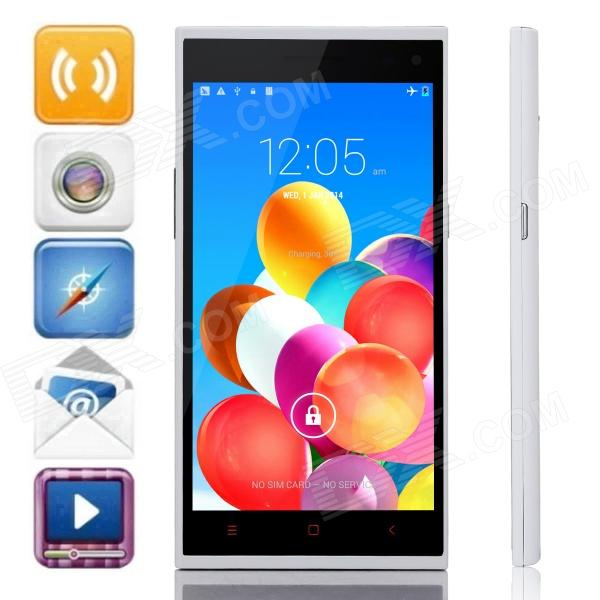Mijue M880 MTK6582 Quad-Core Android 4.4.2 WCDMA Bar Phone w/ 5.5 QHD, 8GB ROM, GPS, OTG - White mijue m6 mtk6582 quad core android 4 2 2 wcdma bar phone w 4 5 qhd 4gb rom wi fi gps white