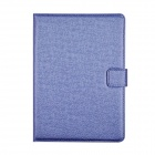 Angibabe Court Flower Protective PU Leather Case Cover Stand w/ Card Slot for IPAD AIR - Blue