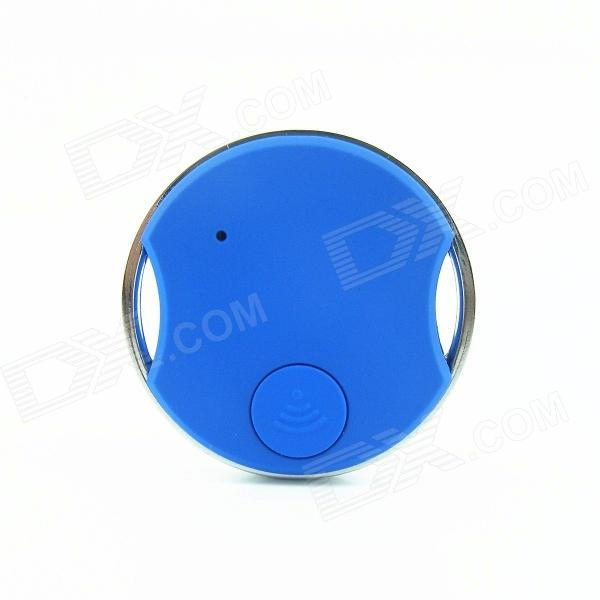 X71A Coin Bluetooth Remote Control Self Timer Camera Shutter for iOS / Android Phone - Blue