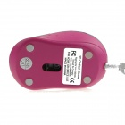 Hat-Prince 1200DPI Optical Mini Mouse w/ Retractable Cable - Deep Pink + Green
