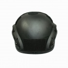 Outdoor Tactical Protective ABS Helmet w/ Guide - Black