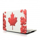 "Hat-Prince Maple Leaf Pattern Protective Full Body Matte Case for MacBook Air 13.3"" - White + Red"
