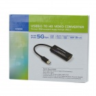 CHEERLINK HD00006 1080P Full HD 5Gpbs High Speed ​​USB 3.0 til HDMI 1.4 Converter Adapter Cable - Svart