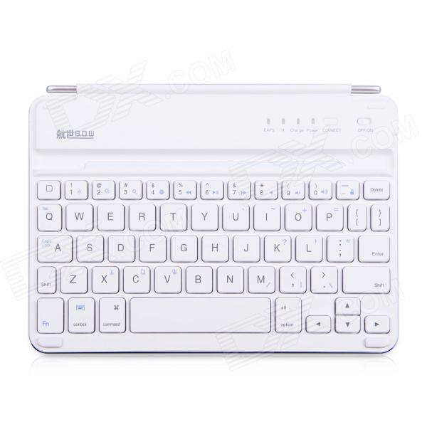 32e4793ecd2 B.O.W Rechargeable Bluetooth V3.0 56-Key Keyboard for IPAD MINI 1 / 2 -  Silver + White - Free Shipping - DealExtreme