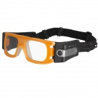 PANNOVO AT80 Full HD 1080P 5.0MP Outdoor Sports Camera Glasses - Blue + Yellow