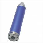 Kapeer 60mm x 280mm Shark Mouth Exhaust Pipe Silencer Muffler for Motorcycle - Blue + Silver