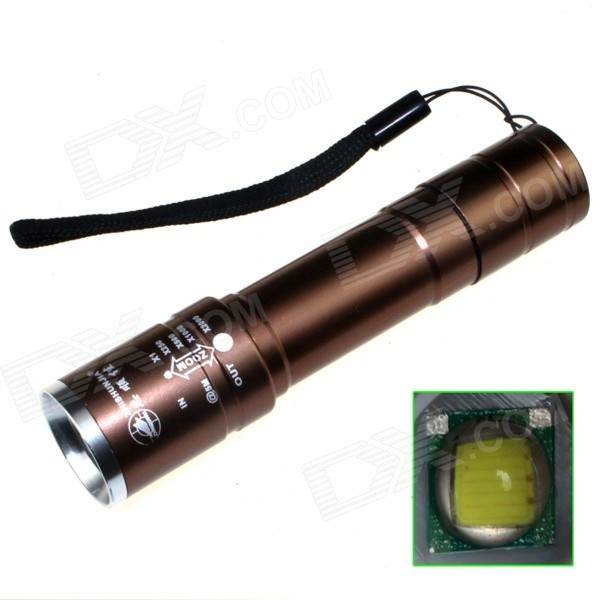ZHISHUNJIA B-T40C LED 720lm 5-Mode Zooming Flashlight - Coffee(1 x 18650)