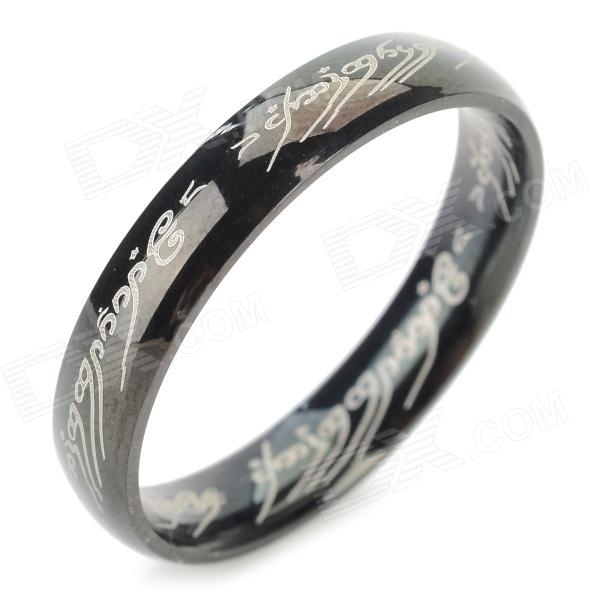 Ring-to-rule-them-all 316L Stainless Steel Ring - Black (Size 9.5) ring to rule them all 316l stainless steel ring black size 11 5