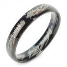 Ring-to-rule-them-all 316L Stainless Steel Ring - Black (Size 9.5)