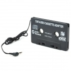 Car Cassette Tape Adapter for MP3 / DVD / VCD Player w/ 3.5mm Jack - Black (12~24V)
