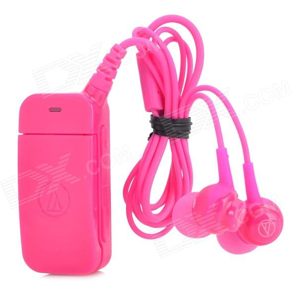 Audio-technica ATH-BT09 Bluetooth V2.1 Clip-on In-Ear Headset w/ Microphone - Deep Pink