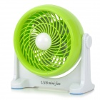 Portable 5-Blade 2-Mode USB 2.0 Powered Mini Rotary Fan - Green + White