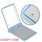 Portable Foldable Make-up Mirror w/ Built-in LED Light - Blue