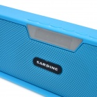 NiZHi Portable Bluetooth V3.0 Music Player Speaker w/ FM, TF, Mic, Micro USB, USB - Blue