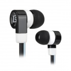 SONGQU SQ-QQ1 3.5mm propp In-ear øretelefon for MP3 / MP4 / MP5-Svart + Hvit
