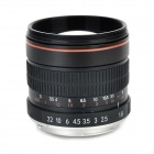 85mm F1.8 Aluminum Alloy Manual Focus Lens Set för Canon - Svart