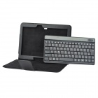 "10"" Detachable Bluetooth 84-Key Keyboard Case w/ Holder for Samsung T520 - Black"