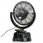 Lileng 823 Adjustable 3-Blade 2-Mode USB 2.0 Powered Mini Fan - Black (107cm-Cable / 4 x AA)