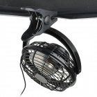 Lileng 823 Ajustable 3-Blade 2-Mode USB 2.0 Powered Mini Fan - Negro (107cm-cable / 4 x AA)