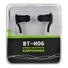 BT-H06 Sports Mini Bluetooth V3.0 Stereo Earphone w/ Microphone - Green + Black