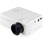 UR52 New 1080P Home Theater Multimedia LCD Projector w/ AV / TV / VGA / USB / HDMI / SD - White