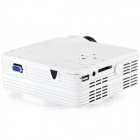 1080P Home Theater Multimedia LCD Projector - White