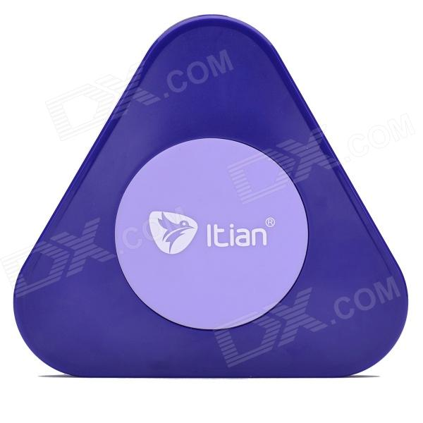 A3 QI Standard Wireless Charger + Receiving Module for Samsung Galaxy S5 - Purple