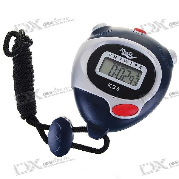 "1.0"" LCD Sports Stopwatch with Time/Date/Week Display (1*LR44)"