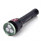 F-3L2 3-LED 2000lm 5-Mode White Light Diving Flashlight - Black (2 x 26650)