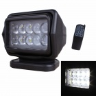 MZ New 50W 4000LM LED 360' Rotating Remote Control White Spotlight Searchlight for Boat / Car (12V)