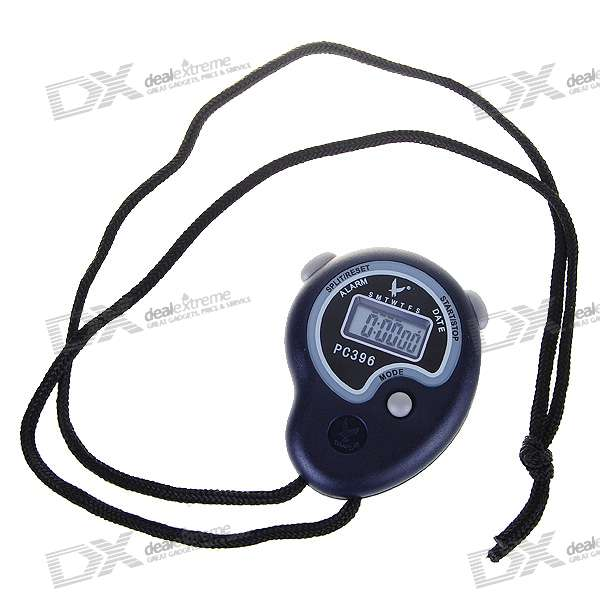 "0.8"" LCD Sports Stopwatch + Whistle with Time/Date/Week Display (1*LR44)"