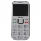 "GUSUN F10 Quad-Band GSM Bar Phone w/ 2.0"" Screen, FM for Elderly - White"