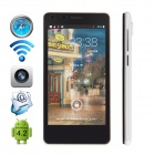 "CUBOT S108 MTK6582 Quad-core Android 4.2.2 WCDMA Bar Phone w/ 4.5"" QHD, IPS, Wi-Fi and GPS - White"